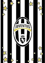 M094 Fleece-Decke für den Winter, Motiv: Juve, offizielles Juventus-Produkt, 130 x 160 cm