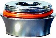 M17 IG x M22 AG Perlator Adapter chrom, M17 Innengewinde auf M22 Aussengewinde z.B.für Jado IQ H2036AA, um einen M22 Strahlregler, einen Aquadea Wasser Wirbler, Übertischfilter wie SanUno, Okato, Ionisator, Aquion etc. anzubringen M17 IG