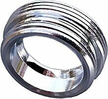 M22 AG x M24 AG, kurz, Adapter 2x Aussengewinde Verlängerung-Übergang für innenliegende Perlstrahler Gewinde am Wasserhahn - z.B. zur Anbringung eines Aquadea Kristall-Trinkwasser Wirbler oder eines Übertischfilter wie Sanuno, Okato