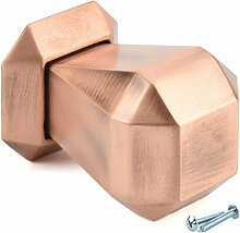M4TEC Möbelknopf Möbelgriff Schubladengriff Knopfgriff Schlafzimmer Küchenschrank Kupfer Gebürstet. H8 Serie: 35 mm