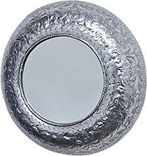 MAADES Spiegel Wandspiegel Baltic XXL rund Silber