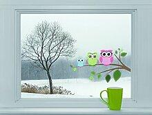 Mabi-IN-Design Eulen auf AST - Fenstersticker