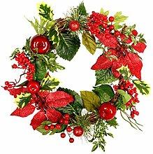 Macabolo 45cm Weihnachtskranz künstliche Blume