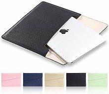 MacBook 12 Zoll Laptop Hülle , elecfan ® PU Leder Tasche Schutzhülle Lederhülle Wallet Case Leather Sleeve Aktentasche für Macbook und die meisten anderen 12 Zoll Laptops (Gerade für 12 Zoll Laptoptas