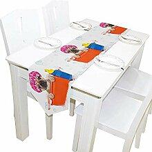 Mackinto Lange Tischläufer Süße Französische