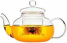 Mackur Glas-Teekanne Spiralsieb und Thermo Effekt