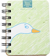 Mackur Mini Cartoon Bedruckt Spirale Notebook Memo