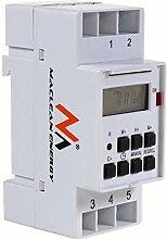 Maclean MCE09 Digitale Zeitschaltuhr Wochenplan Hutschiene 16A DIN-Schiene Schalttafel DIN (12)