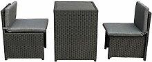 MACO Import Balkonmöbel Set platzsparende Box aus