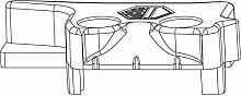 MACO MM Hebeteil PVC 12/20-13, REHAU, links,