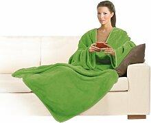 Macom 900G Extraweiche Decke mit Ärmeln, Grün