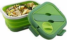 Macom Just Kitchen 865Space Lunch to go Rechaud Elektro zusammenklappbar platzsparend, 35Watt, grün/weiß