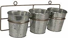 MACOSA NO55806 Zinktöpfe zum hängen Metall 3er