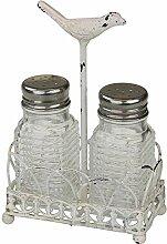 MACOSA SA80036 Salz-& Pfefferstreuer Vintage-Stil