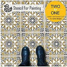 MACRAME FLIESE Wand Möbel Fußboden Schablone