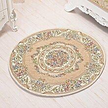 Madaye Runde Teppich Stuhl Wohnzimmer Couchtisch Teppich