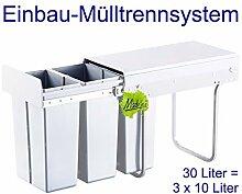 Made for us 30L Einbau-Mülleimer 3 x 10L