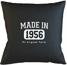 Made In 1956 All Original Parts Birthday Gift Komisch Kissenbezug Haus Sofa Bett Dekor Schwarz