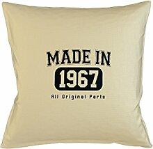 Made In 1967 All Original Parts Birthday Gift Komisch Kissenbezug Haus Sofa Bett Dekor Beige