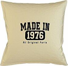 Made In 1976 All Original Parts Birthday Gift Komisch Kissenbezug Haus Sofa Bett Dekor Beige