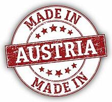 Made In Austria Grunge Emblem - Self-Adhesive