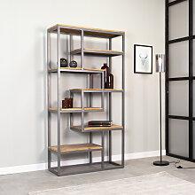 Madison Bücherregal Industrial Mangoholz 180x90