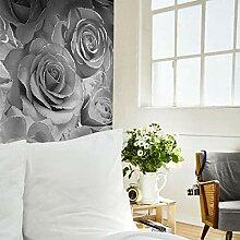 Madison Glitter Blumen-Tapete mit funkelnden