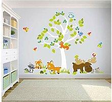 madras24 Wandtattoo Kinder Babyzimmer Aufkleber