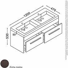 Madrid Waschtisch-Set 120 cm Mokka