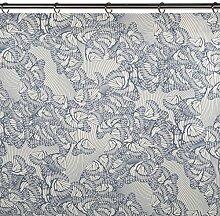 Madura 13828Butterfly Schlaufenschal mit Gardinenband Baumwolle weiß/grau 270x 145cm