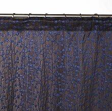 Madura 14832Esmeralda Schlaufenschal mit Gardinenband Polyester blau/anthrazit 145x 291cm