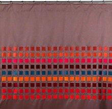 Madura 1995Schlaufenschal mit Gardinenband Square taupe und mehrfarbig 145x 280cm