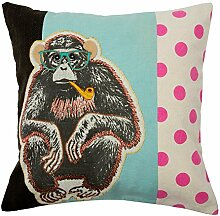 Madura 3662589136296Wise Monkey Kissenhülle, Umschlag bunt 40x 40cm