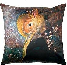 Madura 3662589137194Antik Rabbit Kissenhülle, Umschlag bunt 40x 40cm