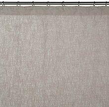 Madura Schlaufenschal mit Gardinenband Bellevue, Polyester, Taupe clair, 200 x 280 cm