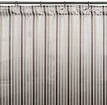 Madura Schlaufenschal mit Gardinenband Berlingot, hellgrau, 145 x 300 cm