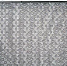 Madura Schlaufenschal mit Gardinenband Salamanca, Gris Bleu/Lin, 200 x 295 cm