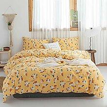 Mädchen-Bettwäsche-Set, Blumenmuster,