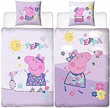 Mädchen Biber-Kinder-Bettwäsche Peppa Wutz Pig