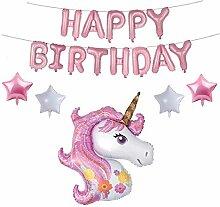 Mädchen Geburtstag Einhorn Party Set Dekor