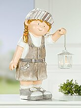 Mädchen Grete mit Laterne Höhe 47,5 cm Dekoration Haus und Garten wetterfes