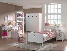 Mädchen Jugendzimmer in Weiß komplett (5-teilig)
