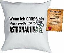 Mädchen/Kinder/Deko-Kissen inkl. Spaß-Urkunde