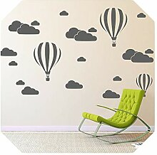 Mädchen Kunst Aufkleber   Cloud Helium Ballon