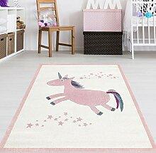 Mädchen Teppich Einhorn Größe 120 x 180 cm