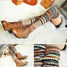 Mädchen Winter Warm Lang Bein Crus Stricken