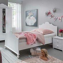 Mädchenbett in Weiß 90x200 cm