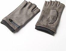 Männer FrauenWinter Warme Handschuhe Wolle Halbfinger Fingerlose Handschuhe ( Farbe : Grau )