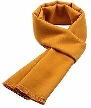 Männer Herbst Warm Lang Schal Paar Geschenk Outdoor Kälte Mehrzweck Frauen Wandern Schal,Darkyellow-OneSize