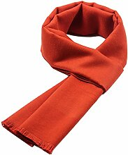Männer Herbst Warm Lang Schal Paar Geschenk Outdoor Kälte Mehrzweck Frauen Wandern Schal,Orange-OneSize
